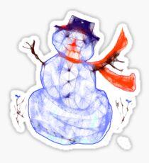Scribbler Snowman.Tee Sticker