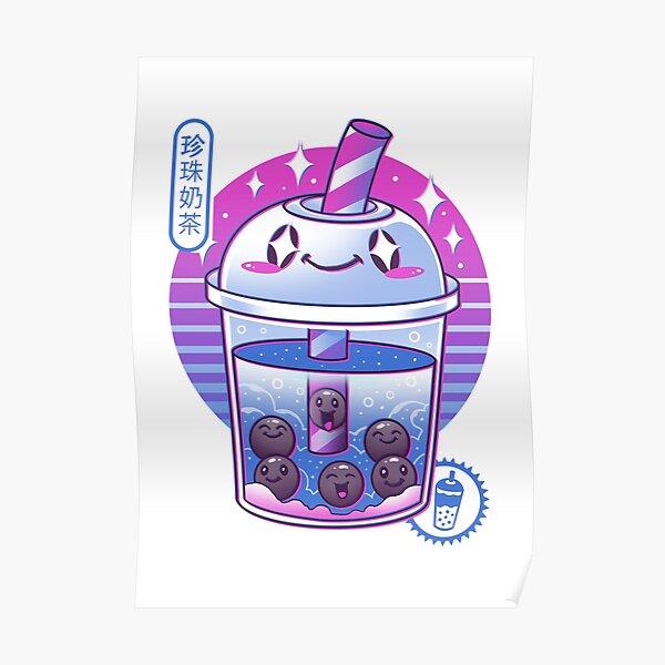 Boba Wave Tea Poster