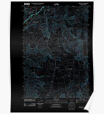 USGS Topo Map Oregon Oregon City 20110826 TM Inverted Poster