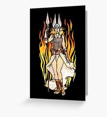 brunhilde pin-up Greeting Card