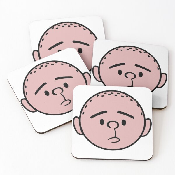 Karl Pilkington Head with ears from The Ricky Gervais Show on XFM Coasters (Set of 4)