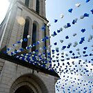 Church and balloons by Alice Oates