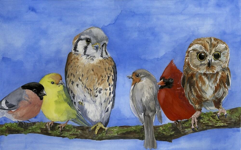 Birds on a Branch by clarehenry