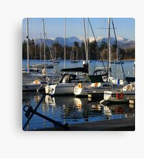 Bowness Boats Canvas Print