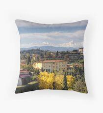 A Tuscan View Throw Pillow