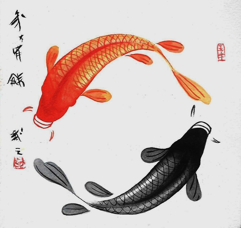 Ying Yang Koi Fish by EllieKD