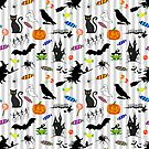 Halloween Fun - Silver Stripes by BraveNewArt