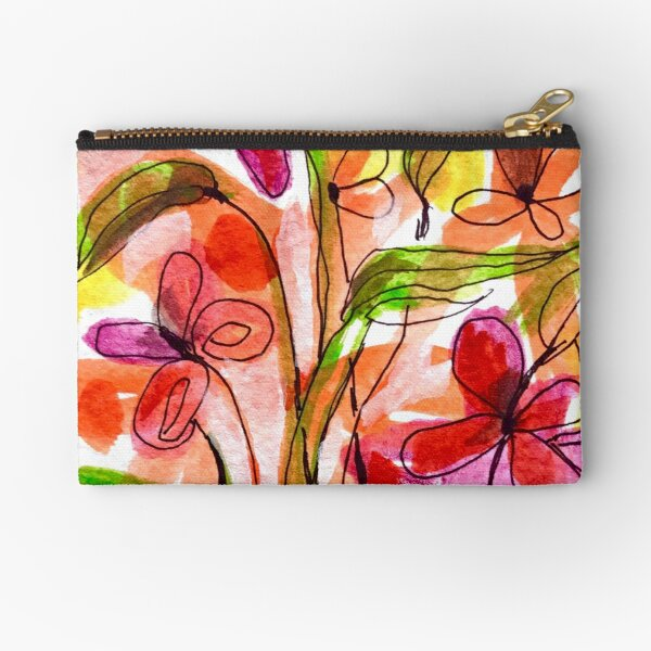 Flowers in a Vase 1.A Zipper Pouch