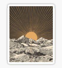 Gebirgslandschaft 6 Sticker