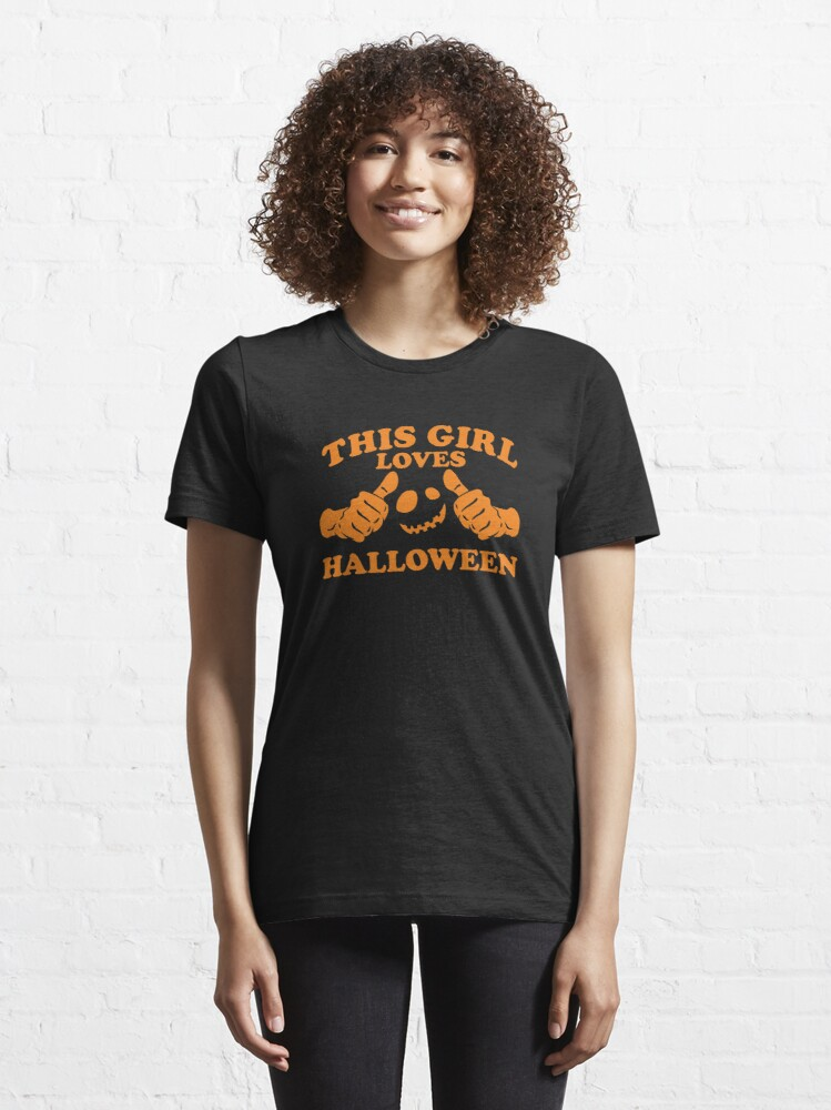 Alternate view of This Girl Loves Halloween Essential T-Shirt