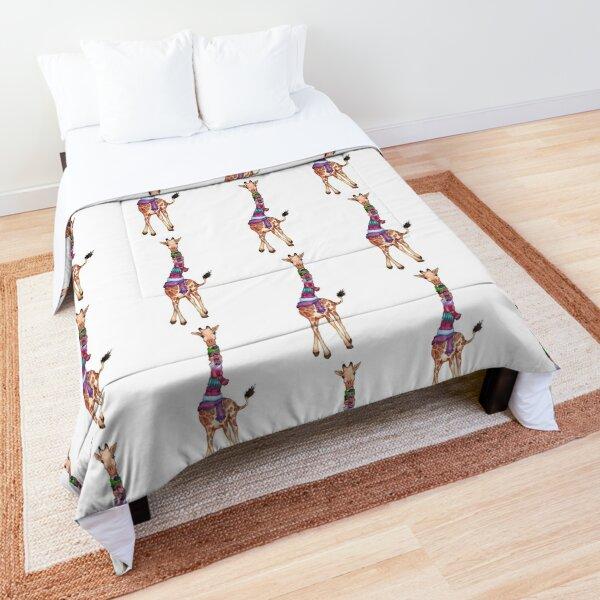 Cold Outside - Cute Giraffe Illustration Comforter