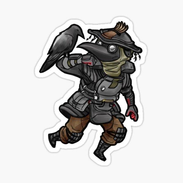 plague doctor bloodhound Sticker