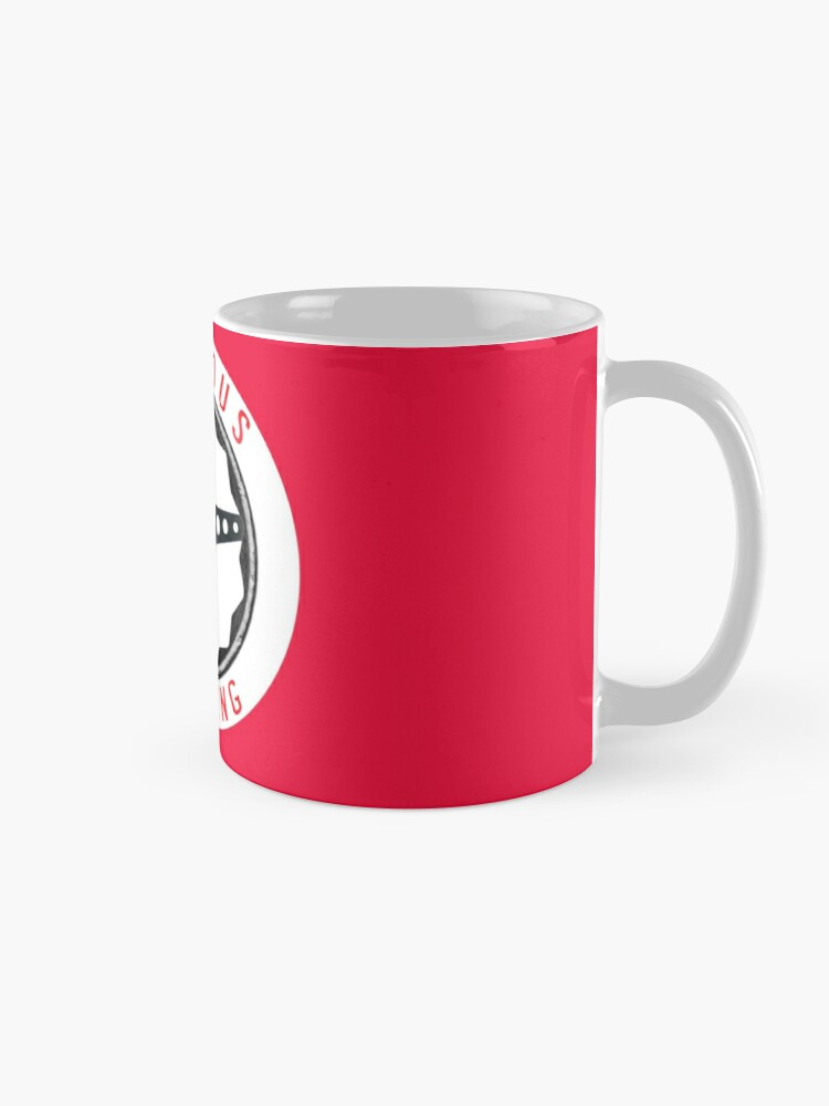 Alternate view of Furious Driving logo - White racing number circle background Mug