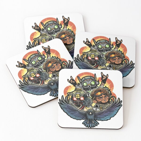 chaotic dumbass squad Coasters (Set of 4)