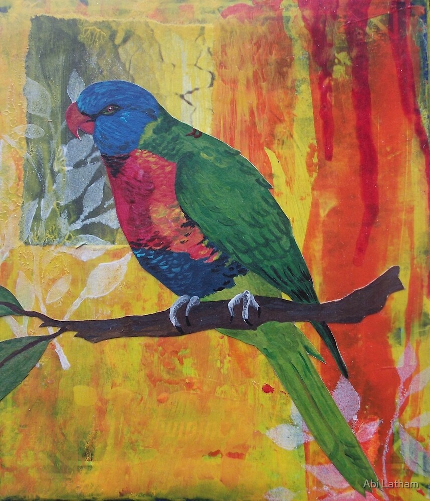 Parrot painting by Abi Latham