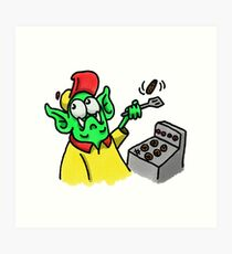 Fry Cook Monster Art Print