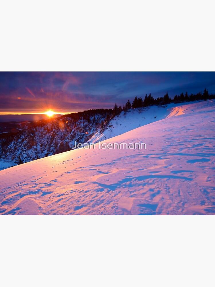 «Lever de soleil en hiver au-dessus du Lac Blanc» par Isenmann