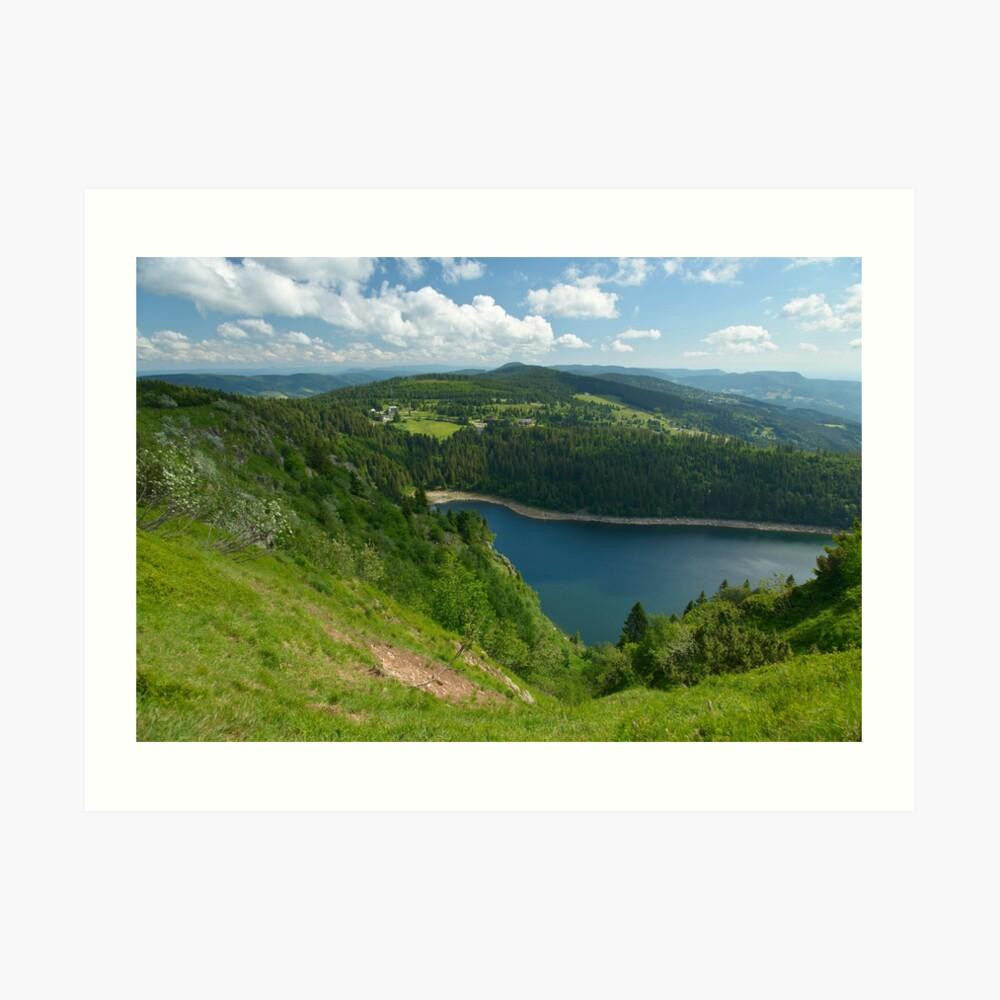 Lac Blanc au printemps Impression artistique