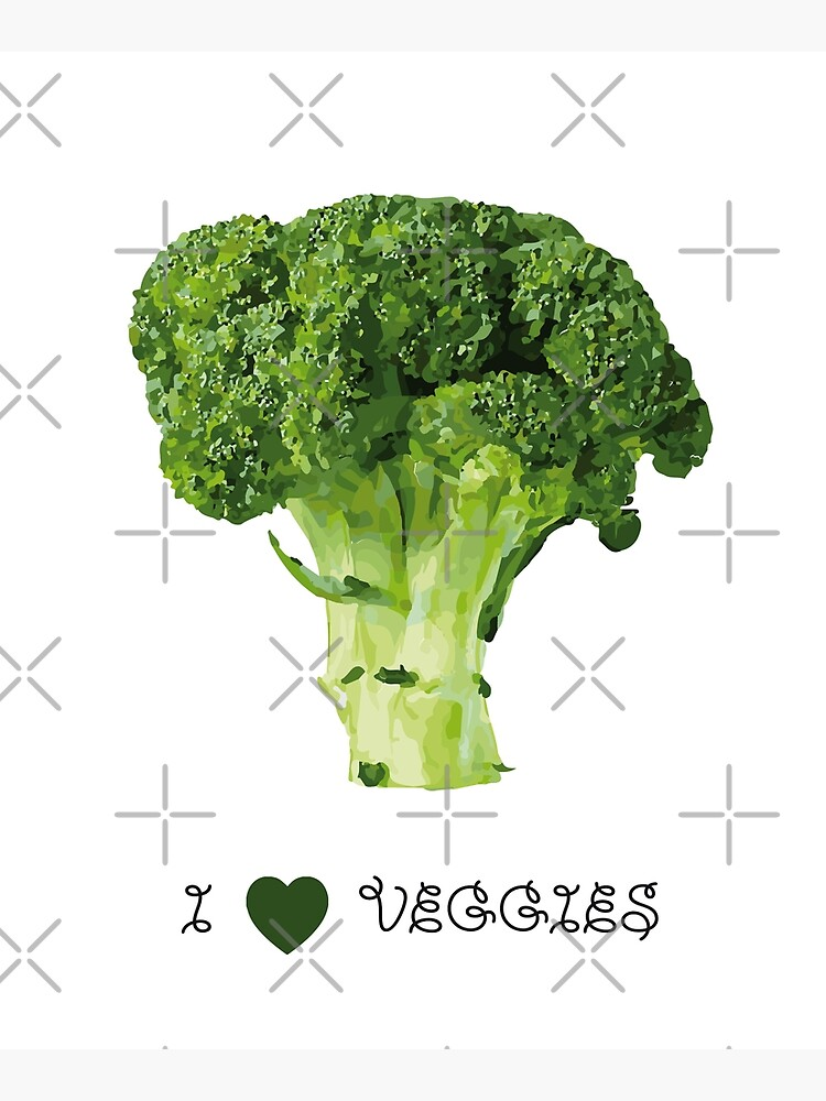 Broccoli - I love veggies by PrintablesP