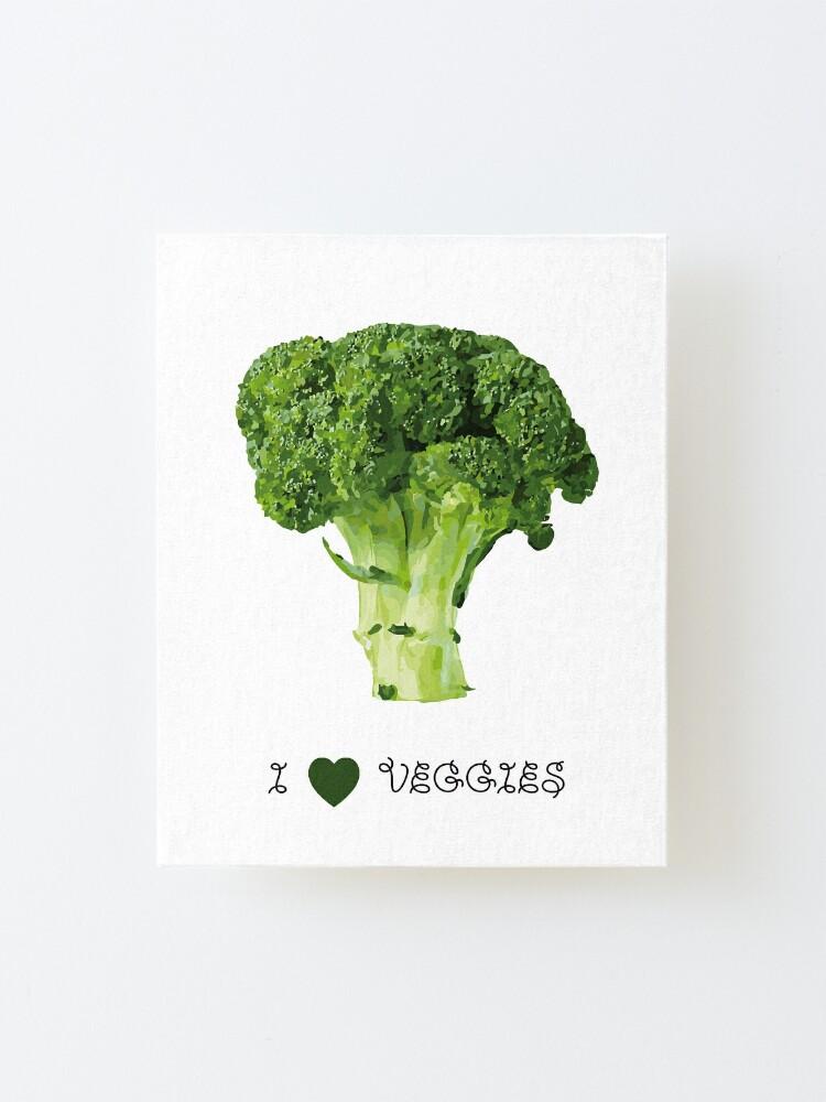 Alternate view of Broccoli - I love veggies Mounted Print