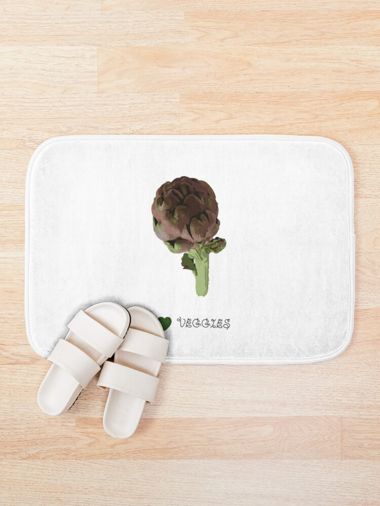 Alternate view of Artichoke - I love veggies Bath Mat