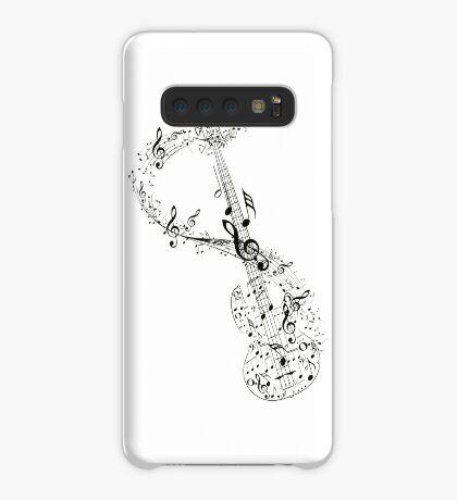 Gitarre und Musiknoten Hülle & Klebefolie für Samsung Galaxy