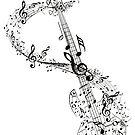 Gitarre und Musiknoten von AnnArtshock
