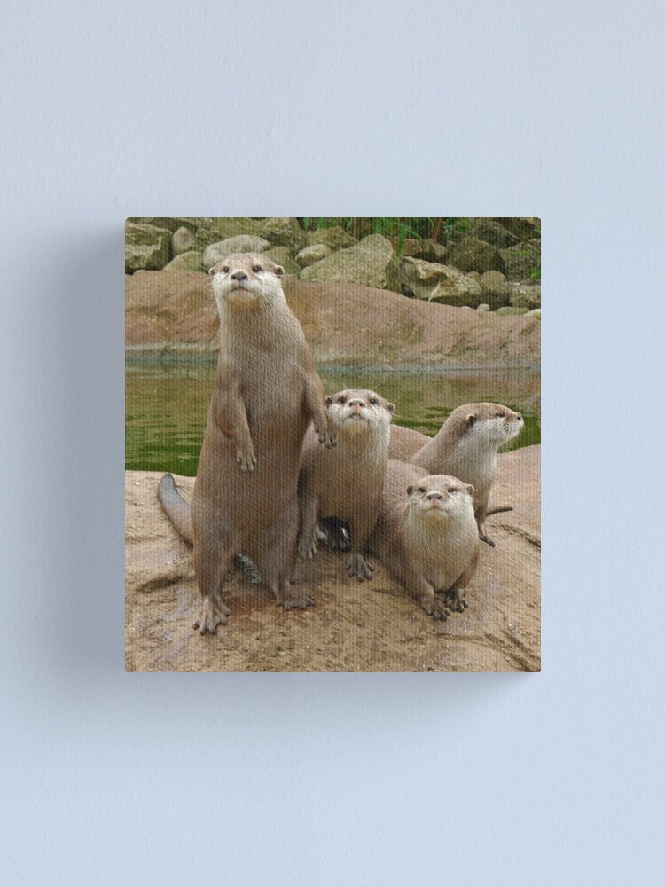 Alternate view of The power of otter Canvas Print