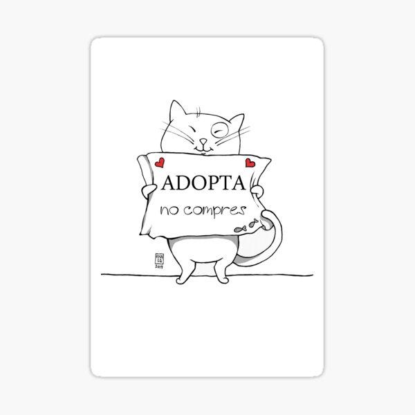 Adopta, no compres Pegatina