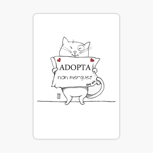 Adopta, non compres Pegatina