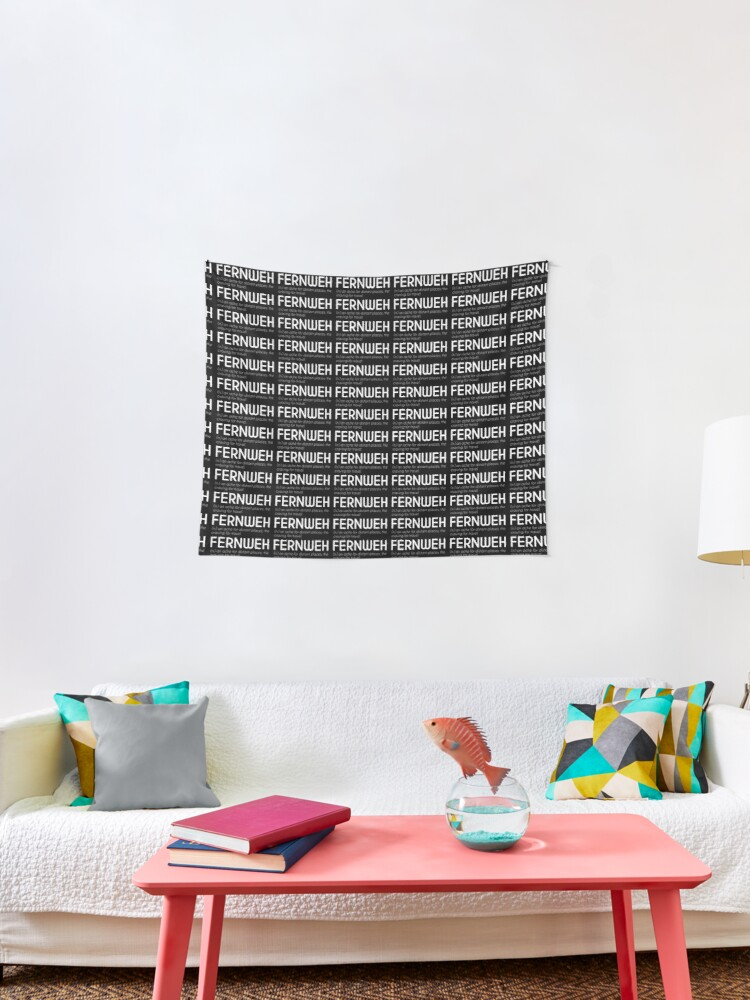 Fernweh Beautiful German Word White Tapestry By Designite Redbubble