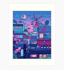 Cyberpunk Konoha Art Print