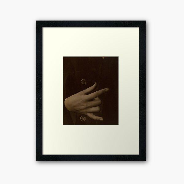 Alfred Stieglitz. Georgia O'Keeffe—Hand, 1918. Framed Art Print