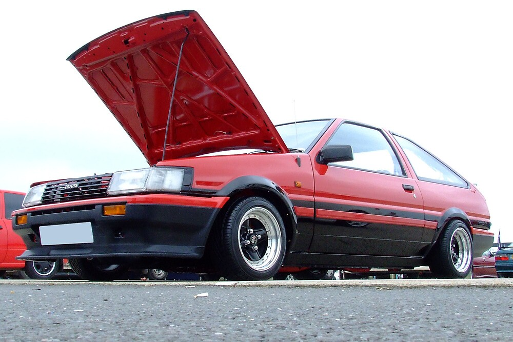Toyota AE86 Red by cmercer