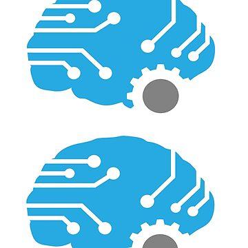 Meat.Space Brain Sticker by dbabecker