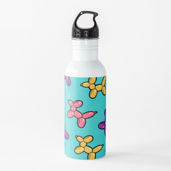 Balloon Animal Dogs Pattern in Blue Water Bottle