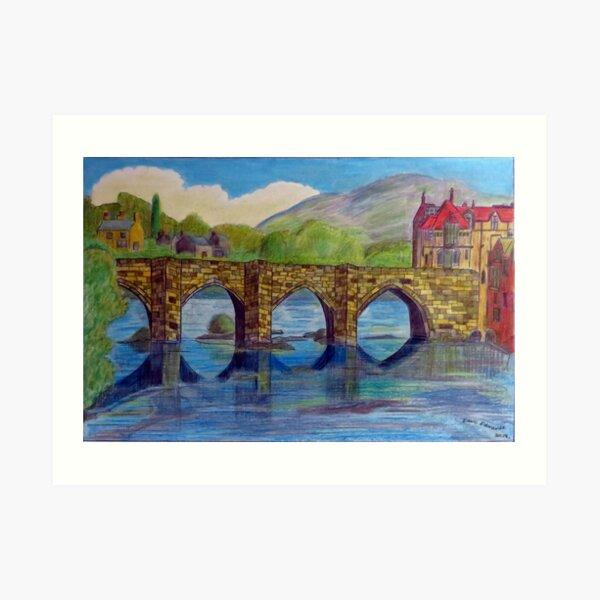 469 - LLANGOLLEN BRIDGE - DAVE EDWARDS - MIXED MEDIA - 2019 Art Print