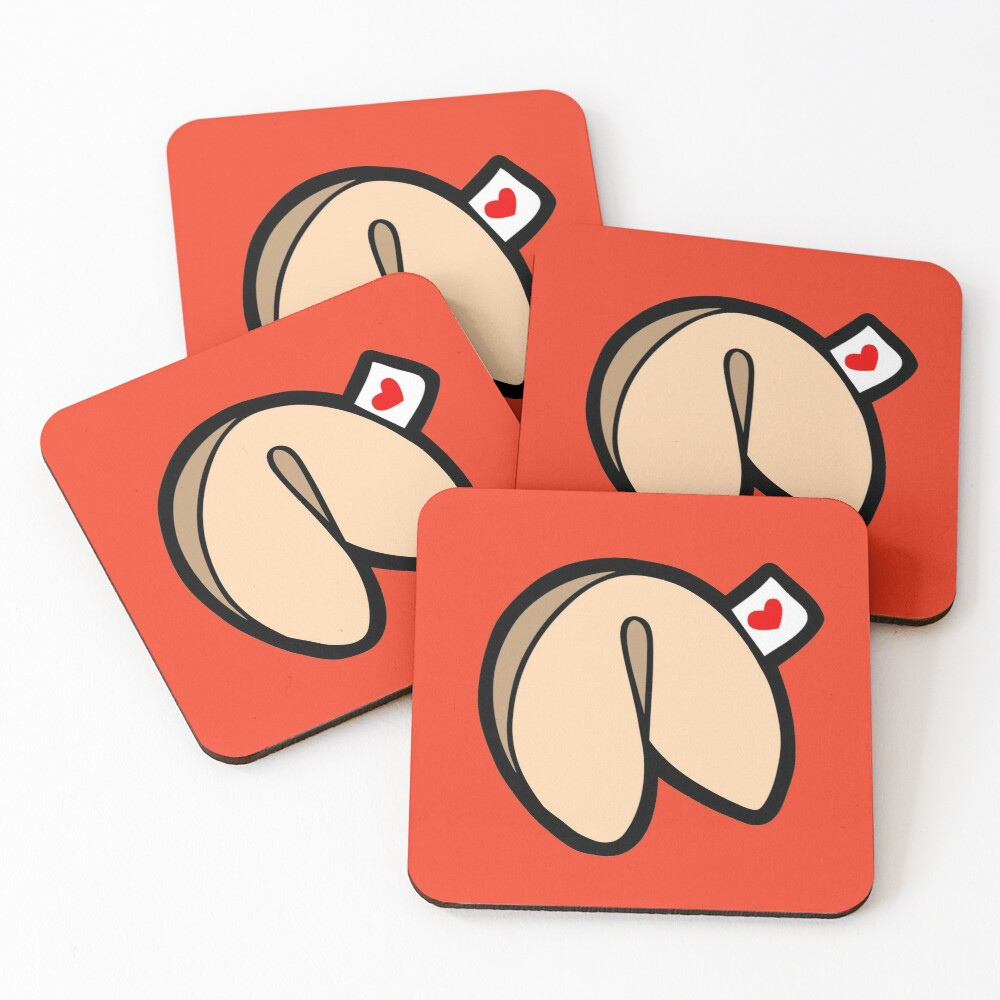 Fortune Cookies Pattern Coasters (Set of 4)