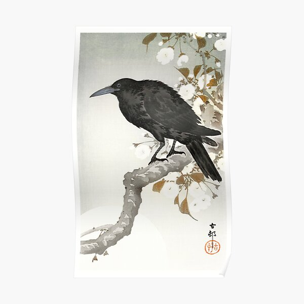 A crow and the full moon Poster