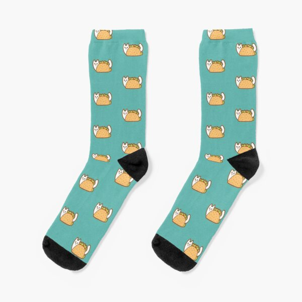 White Cat Taco Socks