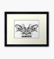 MonStar - Poseidon's Mask Framed Print