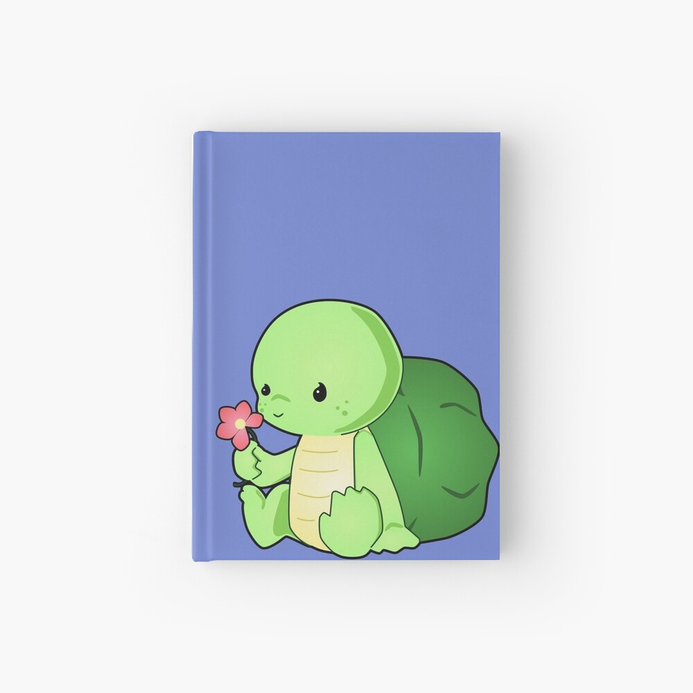 Cute Baby Turtle Vector Drawing Spiral Notebook By Lyddiedoodles