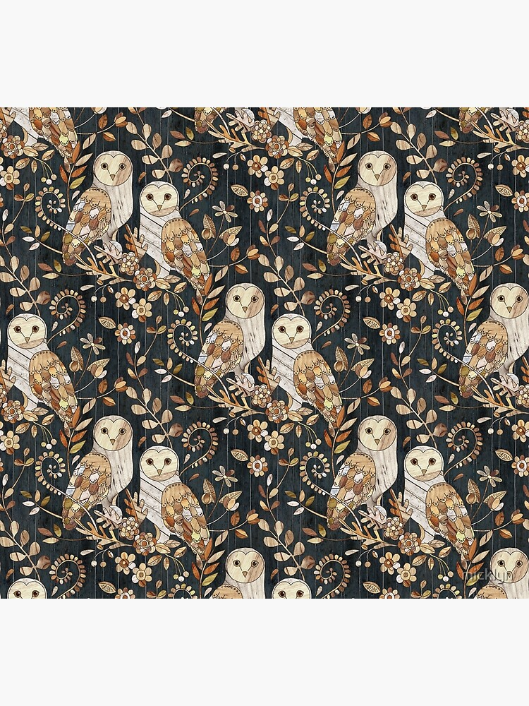 Wooden Wonderland Barn Owl Collage by micklyn