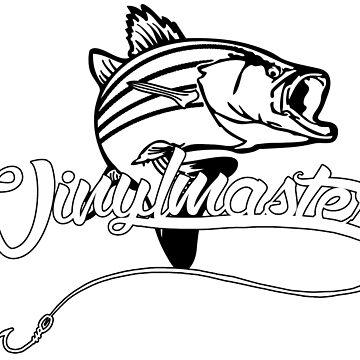 vinylmasters fishing tee by ikky