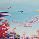 """Coral Garden - Great Barrier Reef"" by Allison  Shaw"