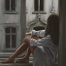 Dreamy Girl on Window by MadliArt