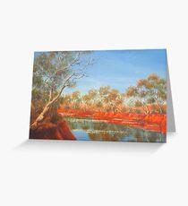 """Outback Creek"" Greeting Card"
