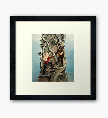 First Beanstalk? Framed Print
