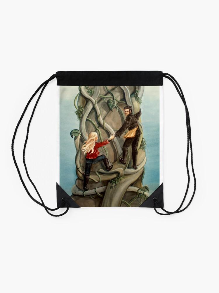Alternate view of First Beanstalk? Drawstring Bag