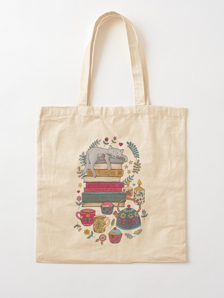 Alternate view of How to Hygge Like a Cat Tote Bag